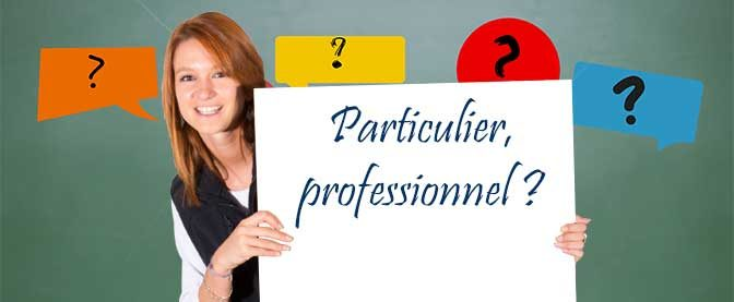 Sondage n°2 : Particulier VS professionnel
