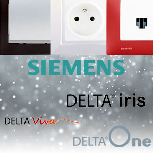Zoom sur les prises et interrupteurs de la marque Siemens