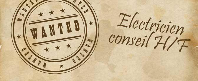 Recrutement d'un électricien conseil