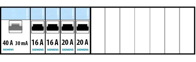 Exemple d'une protection par un interrupteur différentiel 40A