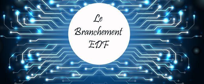 Le branchemet EDF d'une installation électrique domestique