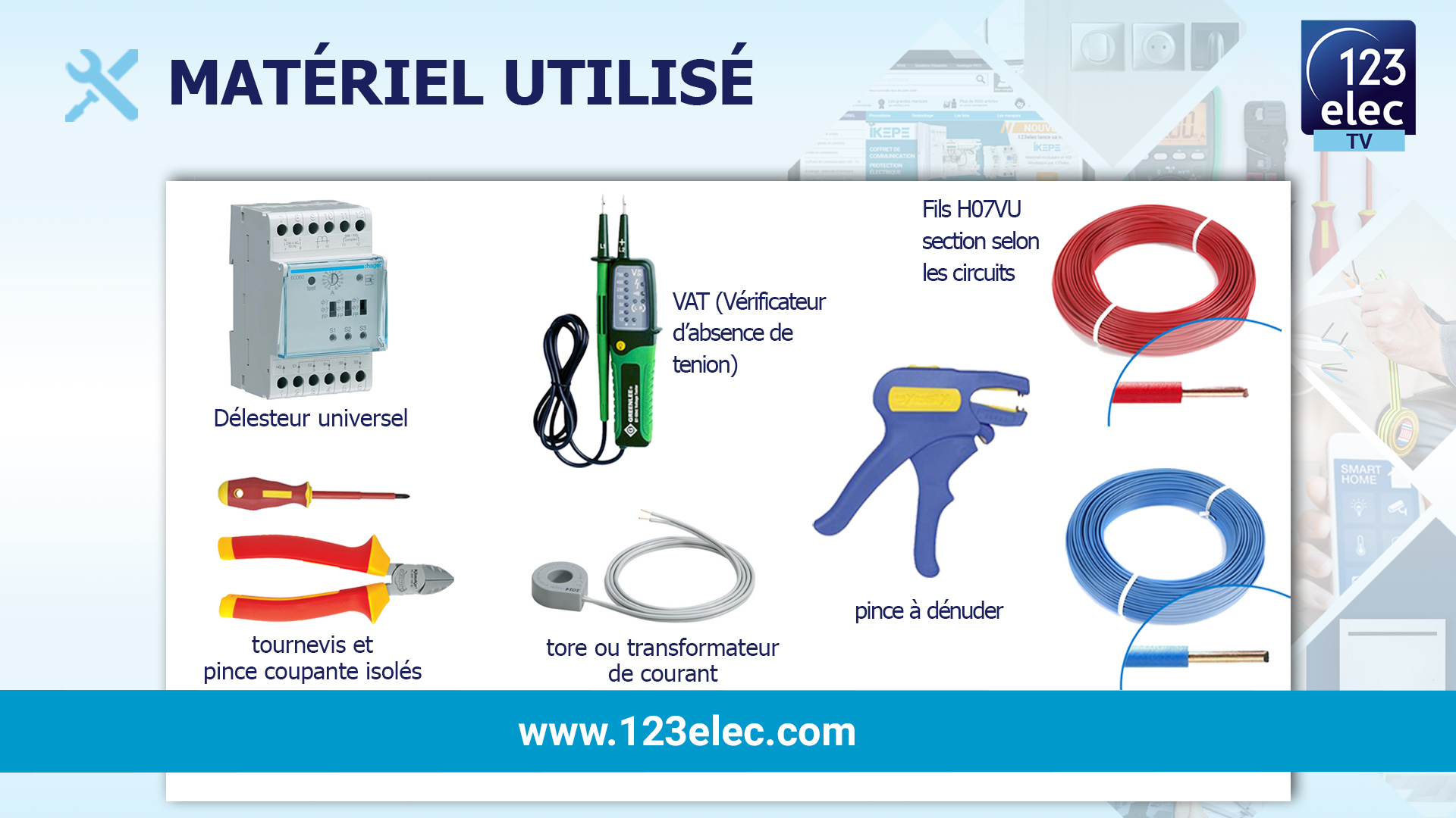 Matériel électrique nécessaire pour l'installation d'un délesteur