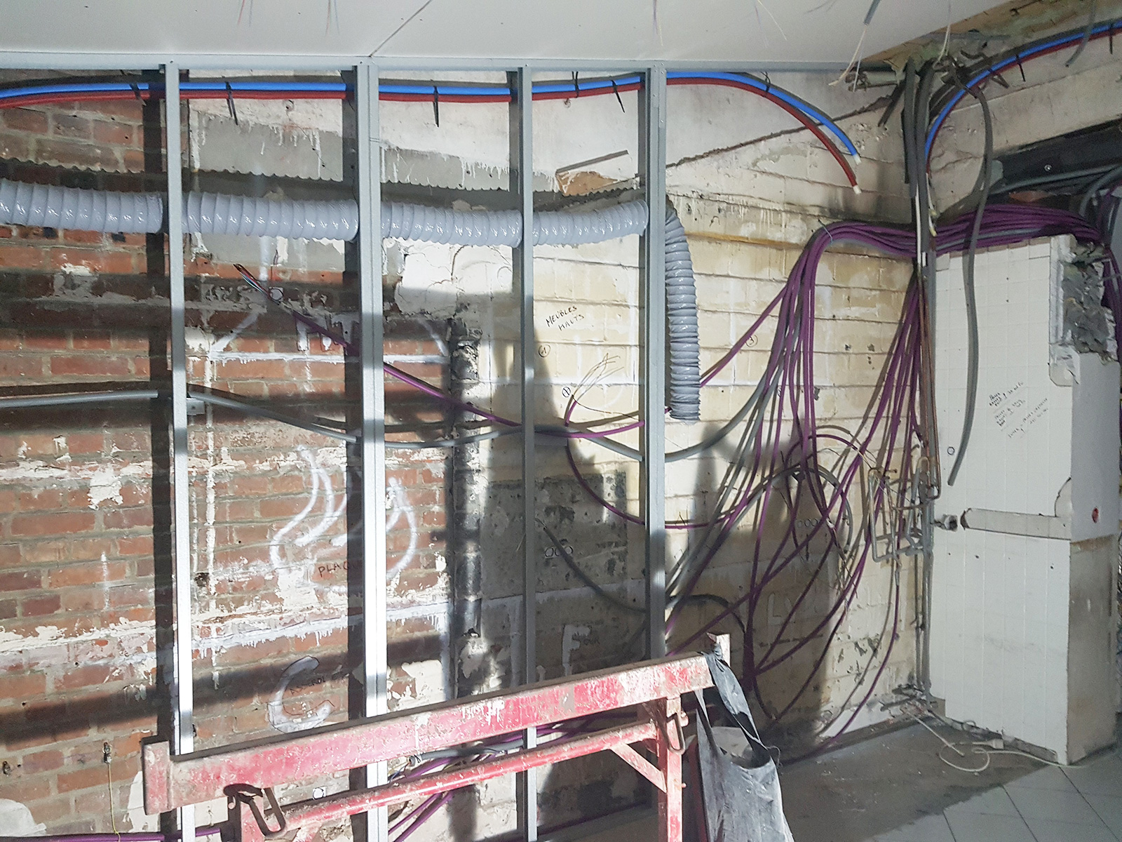 Travaux électriques pour la restauration d'une maison lilloise