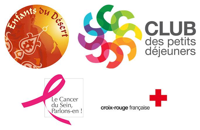Logos des actions solidaires du Trophée des Roses des Sables