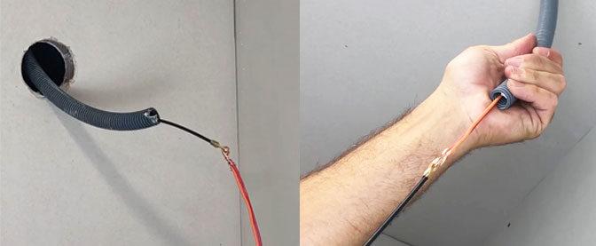 Comment faire passer des fils électriques dans une gaine ?