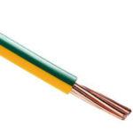 Fil électrique HO7VR vert/jaune