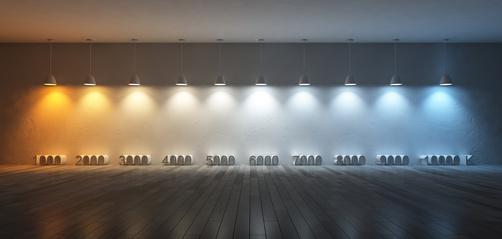 Température de couleur d'une ampoule LED