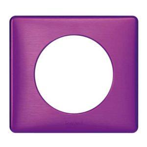 Plaque Legrand Céliane violet métal irisé